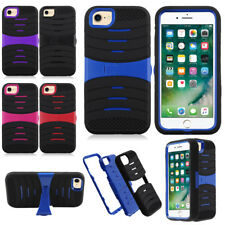 Hybrid Rugged Impact Soft Rubber Hard Case Cover Stand For Apple iphone 7 4.7""