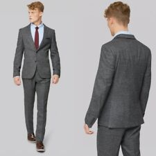 new 3PCS Fashion Gray Fleck Men's Suits Tuxedos Slim Fit  40 42 44 46 48+ Custom