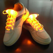 New Multi-Color Cool Night Run Neon LED Shoe laces Shoes Strap Glow Stick Lig...