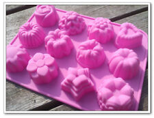Soft Silicone Cake Chocolate Mold Pudding Jelly Handmade Soap Mold Flower Shape