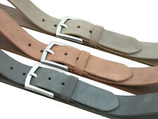 Genuine Leather Men's Belt Casual semi Formal wide pin buckle rubbed belt gifts