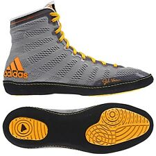 Adidas Jake Varner Adizero gray & orange wrestling shoes