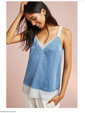 Anthropologie Strappy Colorblock Cami by Floreat Blue Motif Small & Medium NWT