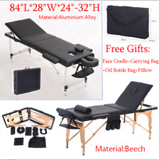 """84""""L Portable 3 Fold Tattoo Therapy Spa Facial Beauty Bed Massage Table Chair TB"""