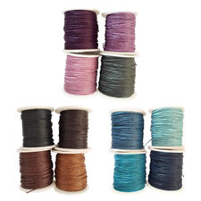 4 Rolls 80 Meters 1mm Waxed Cotton Cords Thread for DIY Bracelet Jewelry Making