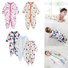 Infant Toddler Baby Boy Girl Coveralls Rompers Jumpsuit Bodysuit Clothes W1D3
