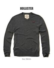 Abercrombie & Fitch - Hollister Sweater Men's V Neck Pullover Sweater S Grey NEW