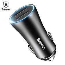 Baseus LED Car Phone Charger For iPhone Samsung Xiaomi Tablet PC Mobile Phone