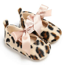 Toddler Baby Girl Lovely Leopard Print Crib Shoes Soft Prewalker Soft Sole Shoes
