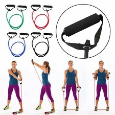 Resistance Tube Set Home Gym Fitness Exercise Workout Heavy Handles Yoga Band DR