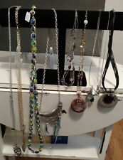 New Lia Sophia Necklaces Choose Yours silver gold leather crystals cat eye
