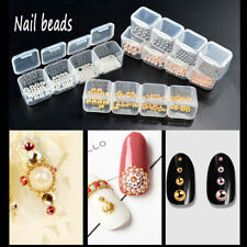 3D DIY Nail Studs Rhinestones Mixed Size Beads Nail Art Ball Pearl Nail Decor