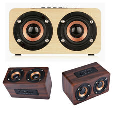 Mini Classic Wooden Dual Speaker Bluetooth Wireless Bass Portable Woofer AF38