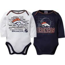 Denver Broncos NFL Infant/Baby Boys/Girls Blue/White 2pc Bodysuit/Creeper: 3-12m