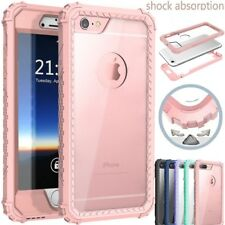 Shockproof Hybrid Crytal Clear Rugged Rubber Case Cover for iphone X 7 8 6S Plus