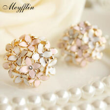 Stud Earrings for Women Female 2017 Boucle d'oreille Crystal Flower Clover