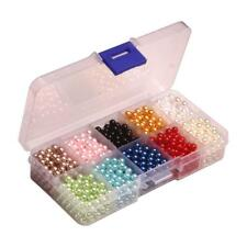 Multi-color ABS Plastic Bead Round Imitation Pearl Loose Beads No Hole DIY Craft