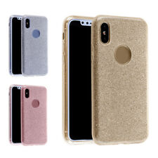 """5.8"""" Back Cover Shinning Protective Bling Glitter 3Layer Cover Case for iphone X"""