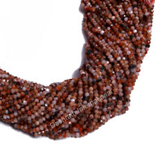 "Natural Mix Agate Gemstone Beads Rondelle Faceted 13"" Strand Calibrated Beads"