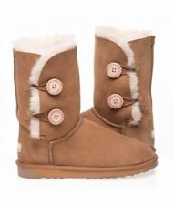 2 Button Australian Made Ugg Boots - Ladies Size/ Chestnut