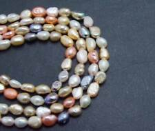 6-7mm Baroque Multicolor Natural Freshwater Pearl Loose beads strands 14'' -l780