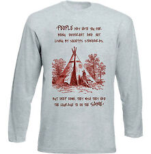 AMERICAN NATIVE INDIAN HATE YOU - NEW COTTON GREY TSHIRT