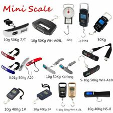 1-10g 50Kg Mini Digital Scale Electronic Hanging Luggage Balance Weight@S