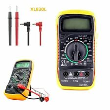 Digital LCD Multimeter Voltmeter Ammeter OHM AC DC VOLT Tester Checker XL830L@~