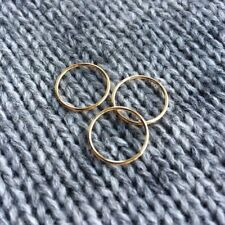 Gold Filled Midi Ring . Above The Knuckle . Tip of Finger Ring . Plain Band
