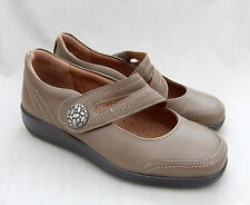 NEW HOTTER MELISSA WOMENS TAUPE LEATHER SHOES SIZE 4.5 / 37.5 STD