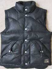 RALPH LAUREN ( Black ) Down Faux Leather Puffy Vest Mens - NWT ( $145 )