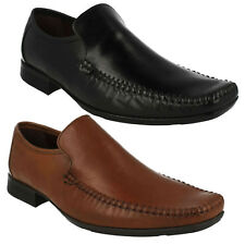 MENS CLARKS LEATHER SQUARE TOE LOAFER STYLE SLIP ON FORMAL SHOES FERRO STEP SIZE