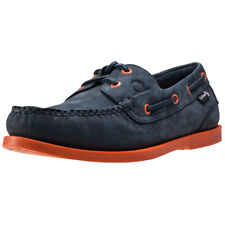 Chatham Compass Ii Deck Mens Blue Leather Casual Boat Shoes Lace-up New Style