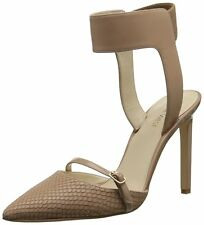 Nine West Womens Tabia Leather Pointed Toe Ankle Strap D-orsay Pumps