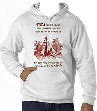 AMERICAN NATIVE INDIAN HATE YOU - NEW COTTON WHITE HOODIE