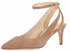Nine West Womens Shawn Leather Pointed Toe Ankle Strap Classic Pumps