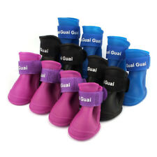 Lovely Dog Rain Boots Shoes Candy Colors Waterproof Rubber Pet Puppy Rain Shoes