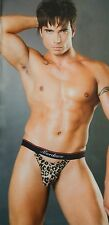 SEXY OPEN FRONT MEN UNDERWEAR  HIGH QUALITY LYCRA THONG.S/M MALE STRIPPER WEAR