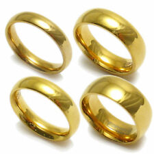 18K Gold Plated Stainless Steel Comfort Fit Ring Wedding Band Size 8 to 9