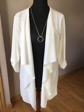 New Quiz Cream Waterfall Crepe Jacket Size 22