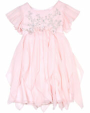 Biscotti Girls' Dress with Flutter Sleeves Young Romance, Sizes 4-12