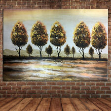 Hand Painted Mountain Tree Landscape Oil Painting Large Canvas Forest Wall Art