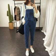 Women Adjustable Strap Overall Jeans Romper Casual Sleeveless Denim Jumpsuit LH