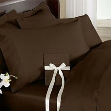 100% Egyptian Cotton Solid ( Chocolate ) Bed 1PCs Fitted Sheet Select Size 800TC