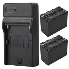 2 x 7800mah Replacement Battery Pack + Charger For Sony Camera NP-F960 NP-F970