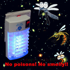 LED Socket Electric Mosquito Fly Bug Insect Trap Night Lamp Killer Zapper New 2Y