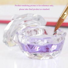 Cosmetic Tools Crystal Glass Dappen Dish Cup Nail Art Acrylic Liquid Powder YX