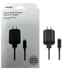 NEW OEM Original Verizon Micro USB Rapid Wall Home Travel 6ft Cable Charger