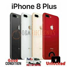 Unlocked Apple iPhone 8 Plus 256GB Silver Gold Red Space Gray AT&T Tmobile Metro