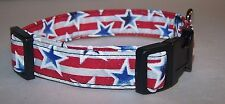 Wet Nose Designs Patriotic Glitter Stars and Stripes Dog Collar Red White Blue